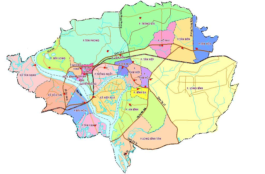 Thnh ph Bin Ha a im bn Map vn